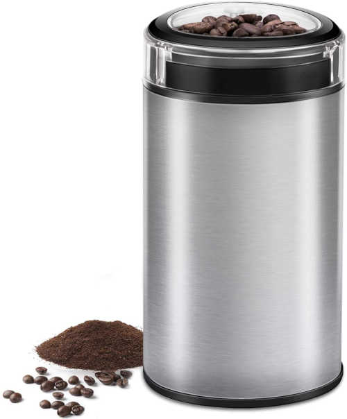 Electric Coffee Grinder Spice Grinder - Stainless Steel Blades Grinder for Coffee Bean Seed Nut Spice Herb Pepper