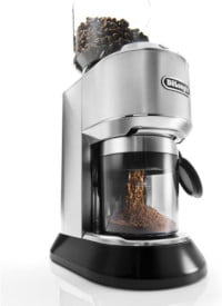 De'Longhi Dedica Conical Burr Grinder with Portafilter Attachment