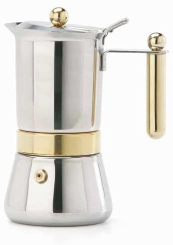 Vev Vigano 8160 Vespress Gold 12 to 14-cup Coffee Pot – Made in Italy