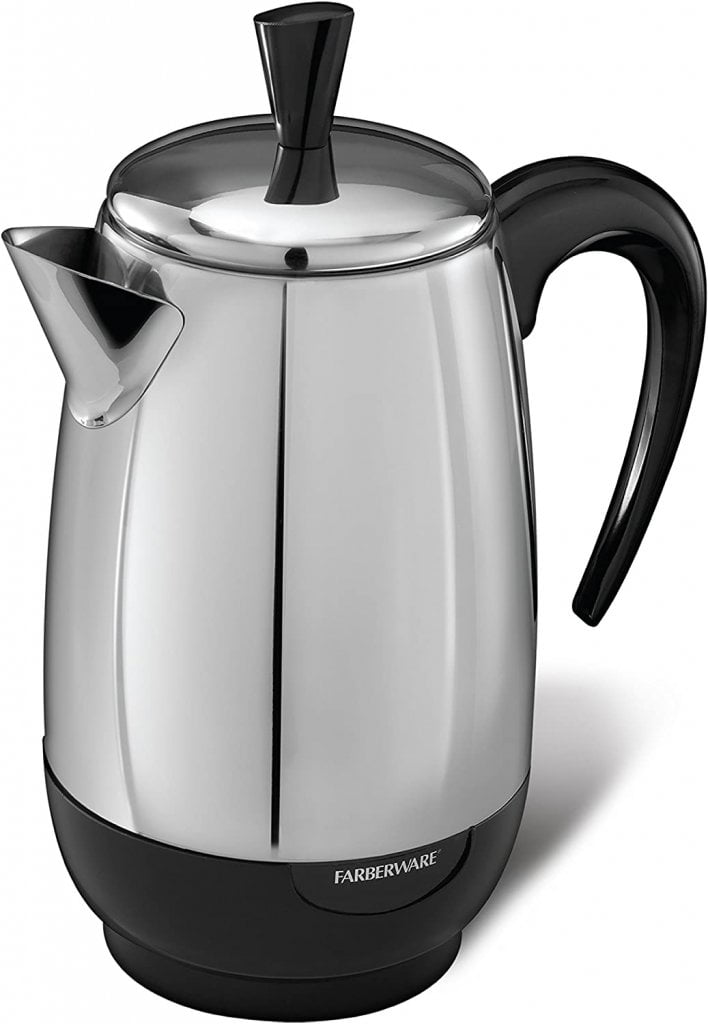 Spectrum Brands Farberware 8-Cup Percolator, Stainless Steel, FCP280