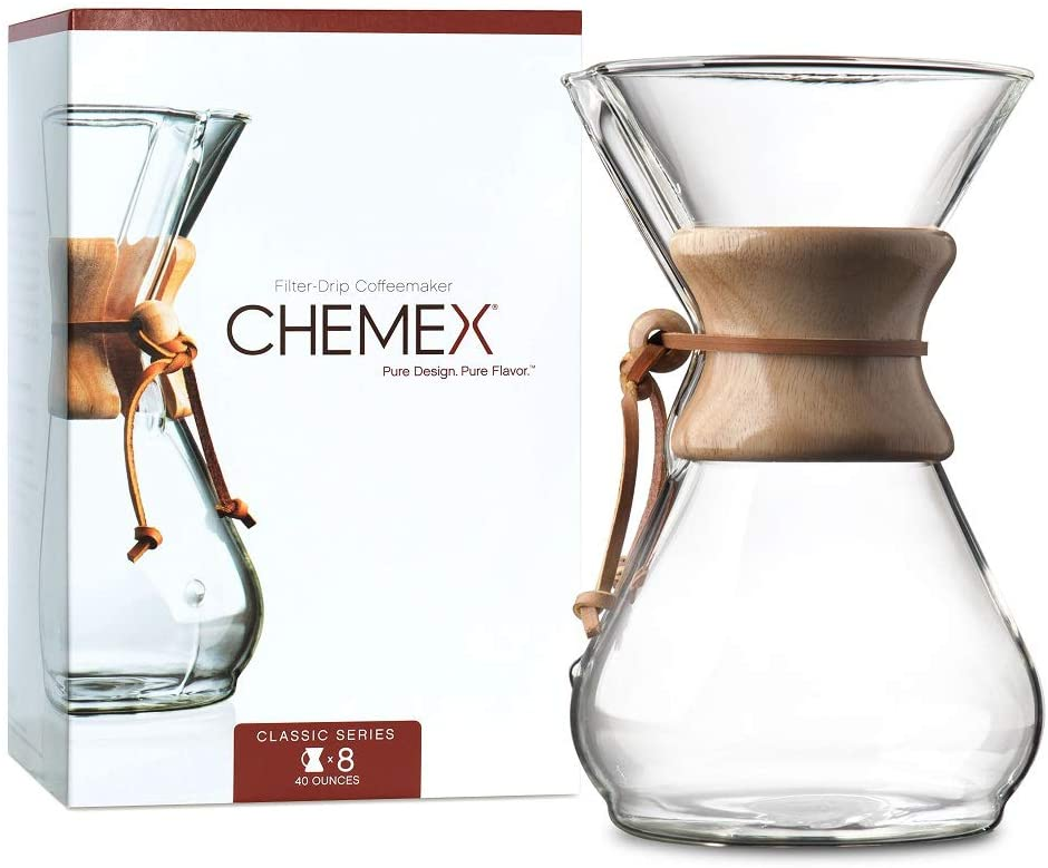 Chemex Pour-Over Glass Coffeemaker - Classic Series