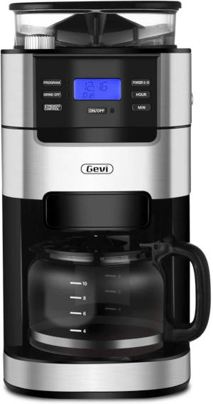 Gevi 10-Cup Drip Coffee Maker with Grinder
